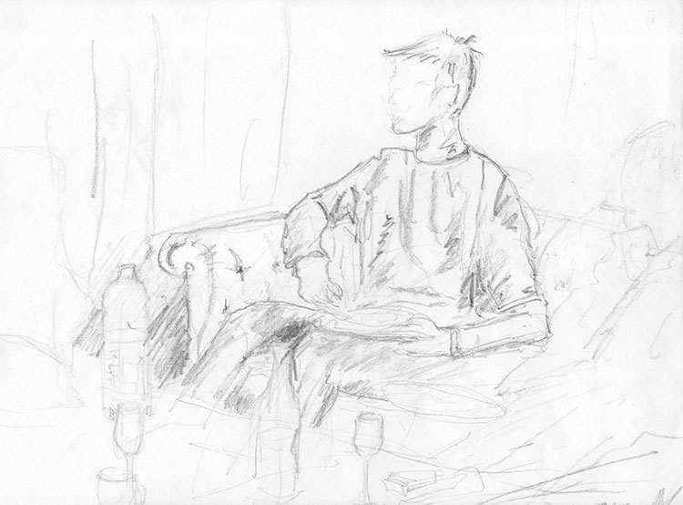 Christmas-figures-pencil-sketch-man-No3-2001-web