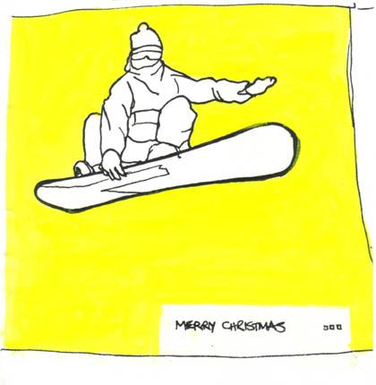 Snowboarder Xmas
