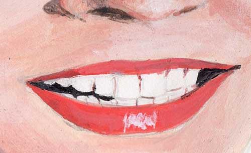 Close-up-of-a-mouth-Standard-Grade-Art-Study-c1995