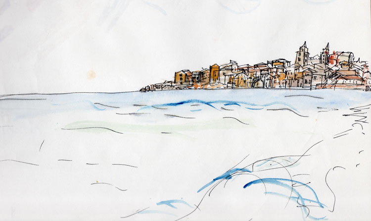 Random-Watercolour-of-Med-town-c1995-web