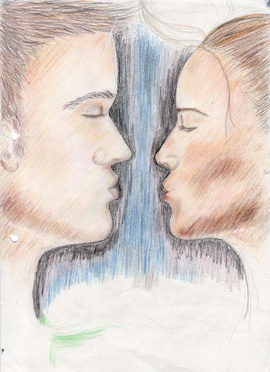 The-Kiss-symbol-pencil-drawing-web