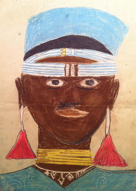 Tribal-African-Woman-pastels-1991-web